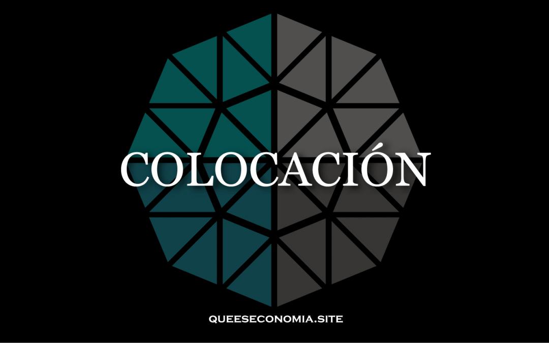 COLOCACIÓN